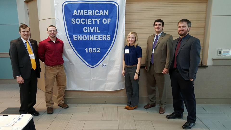 Scholarship recipients and ASCE NWA officers